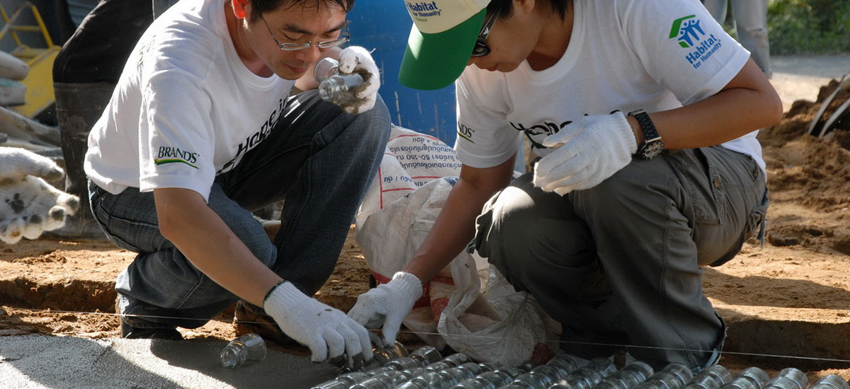 Hope in a Bottle: Habitat for Humanity
