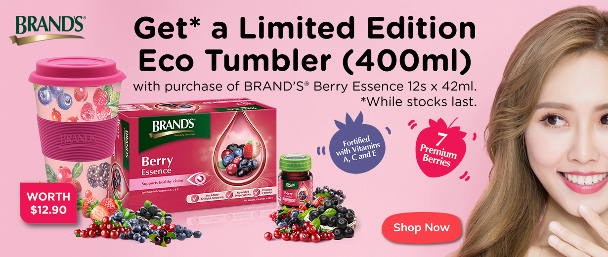 LIMITED EDITION BRAND'S<sup>®</sup> BERRY ESSENCE TUMBLER PROMOTION