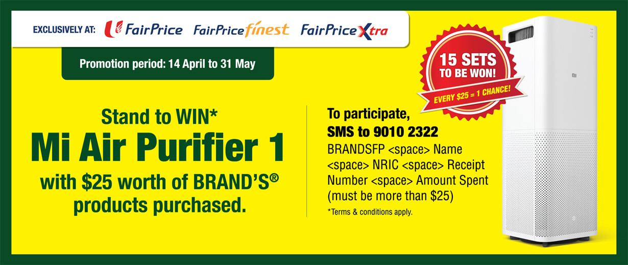 BRAND'S® – Fairprice Exclusive Promotion 2017 masthead desktop