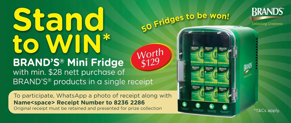 Shop and win BRAND'S<sup>®</sup> Mini Fridge